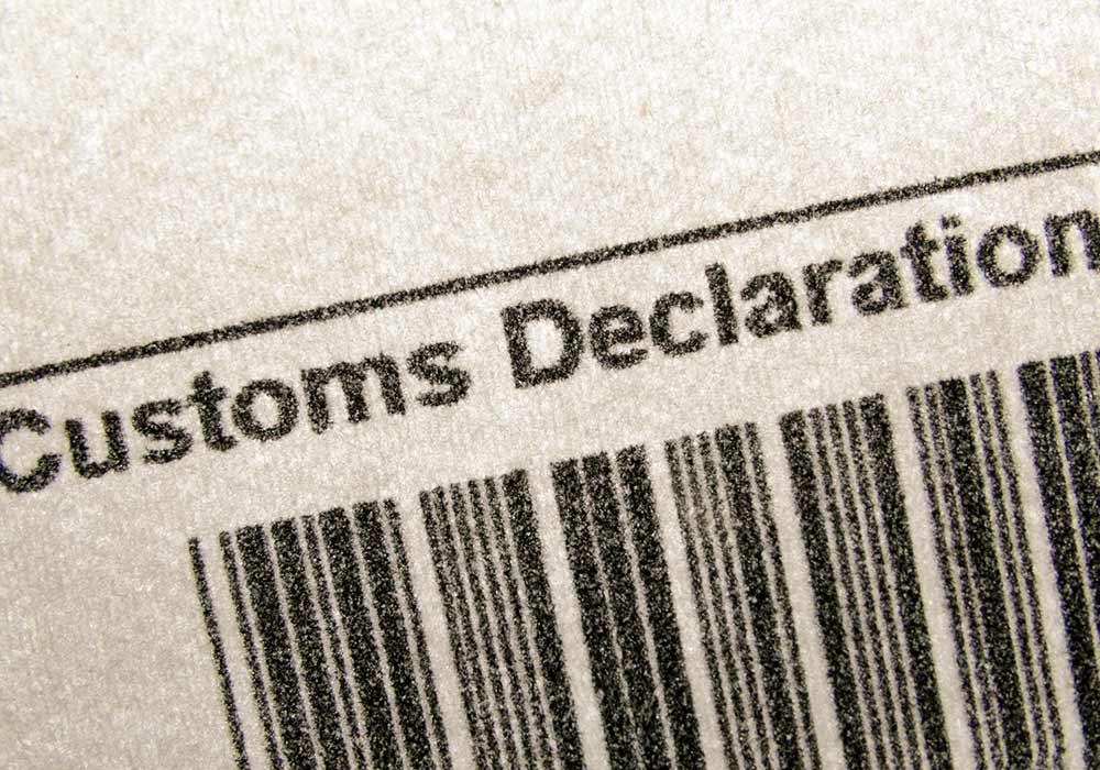 declaration barcode customs