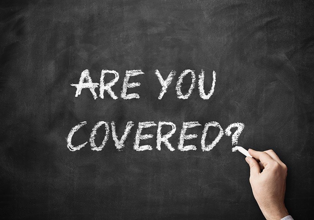 insurance cover chalkboard